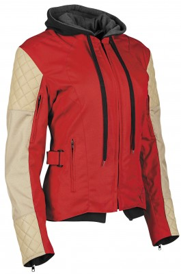 Speed & Strength Double Take Textile Womens Jacket (Red/Cream / Md) [Warehouse Deal]