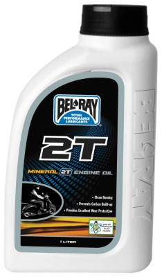 Bel-Ray 2T Mineral Engine Oil - 1L. [Warehouse Deal]