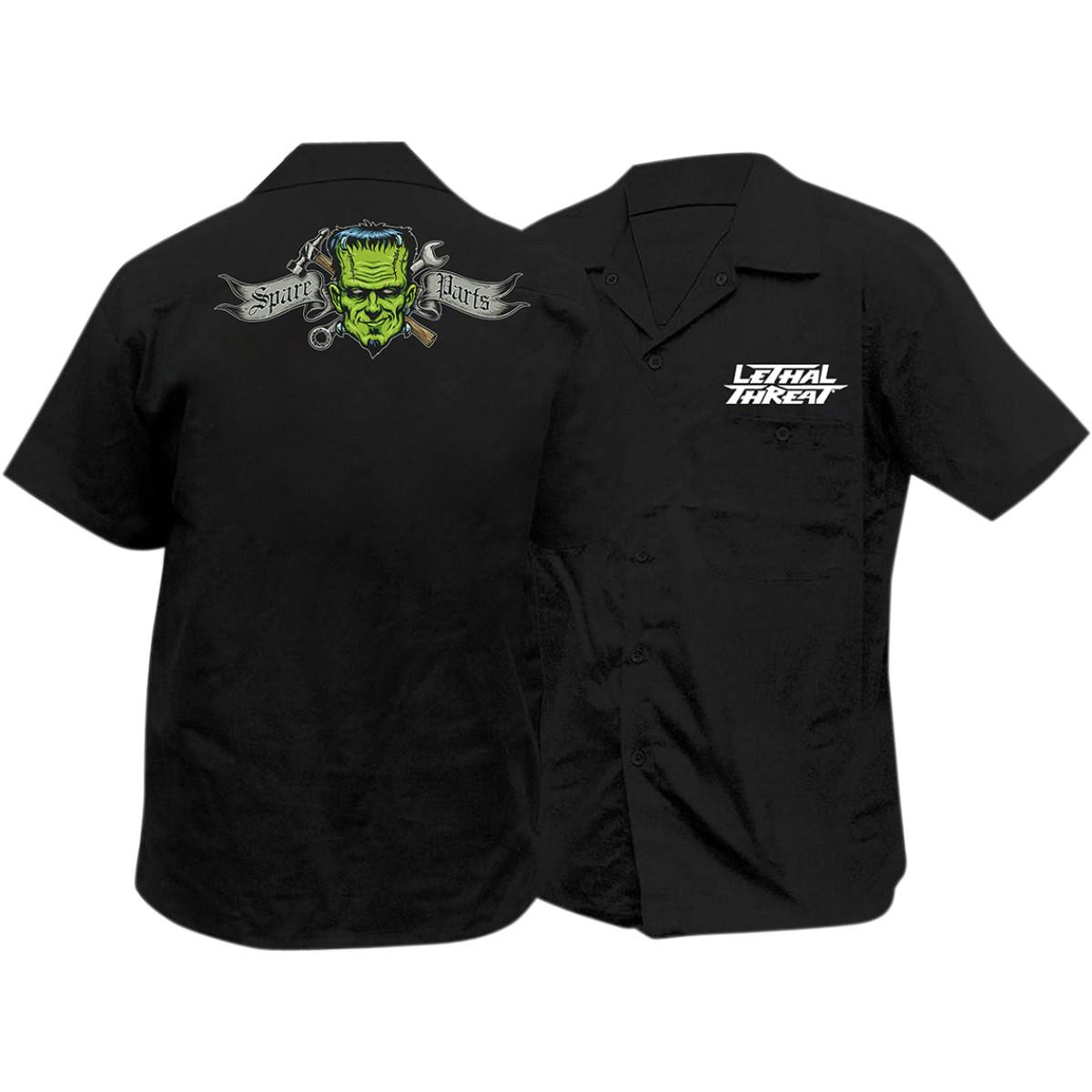 Lethal threat spare parts embroidered work shirt 2wheel for Embroidered work shirts online