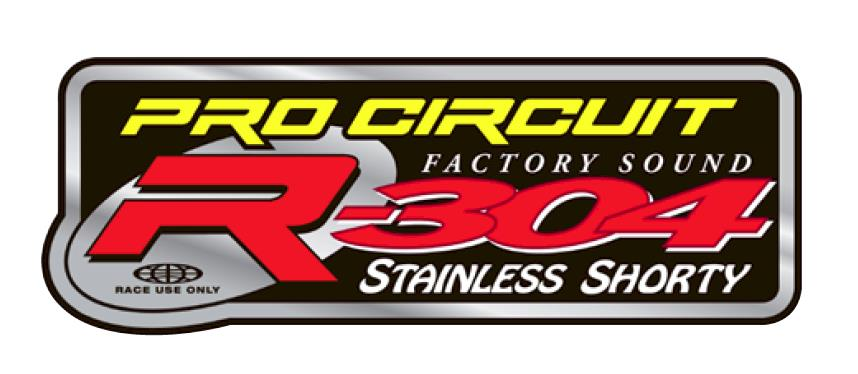 Pro Circuit R-304 Shorty Silencer Decal