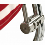 Pro Pad Flag Mount with USA Flag for .765in. Vertical Round Bar with Quick Release