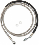 Drag Specialties Clear Coated Stainless Steel Hydraulic Clutch Lines