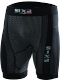SIXS Carbon Underwear Half-Leg Shorts with Butt-Patch
