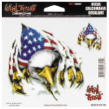 Lethal Threat Rip N Tear Eagle Decal