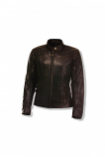 Olympia Moto Sports Janis Womens Leather Jacket (Brown / XL) [Warehouse Deal]