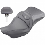 Saddlemen Extended Reach Heated Road Sofa CF Seat with Drivers Backrest