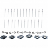 Cycle Performance Quick-Fasin Kit - Winged Fastener Self-Ejecting with Springs