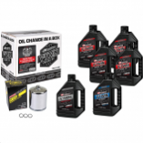 Maxima Twin Cam Synthetic Oil Change Kit with Chrome Filter