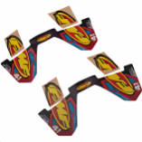 FMF Racing CRF Dual Can Wrap Logo Decal Replacements