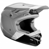 Thor Sector Bomber Youth Helmet (Charcoal/White / Md) [Warehouse Deal]