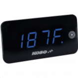 Koso North America Digital Touch-Screen Volt and Temperature Meters