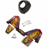 FMF Racing End Cap Kit for Factory 4.1 Dual CRF - Carbon - Left [Warehouse Deal]