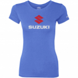 Factory Effex Suzuki Stacked Womens T-Shirt (Lg) [Warehouse Deal]