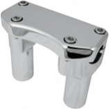 Drag Specialties Handlebar Riser/Top Clamp Kit with 1in. Clamping Area - 3in. Tall - Chrome [Warehouse Deal]