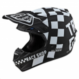 Troy Lee Designs SE4 Polyacrylite Checker Helmet with Mips (XL) [Warehouse Deal]