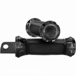 Performance Machine Overdrive Footpegs - Black Anodized [Warehouse Deal]