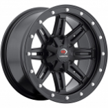 Vision Wheel Type 550 Front Wheel - 12x7 - 4+3 Offset - 4/110 - Matte Black [Warehouse Deal]