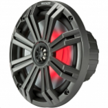 KICKER All Weather Coaxial 8in. Speakers with 7-color LED and 1in. - 4 ohm - 150W RMS [Warehouse Deal]
