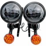 Rivco Products 4.5in. LED Auxiliary Lights with Turn Signals
