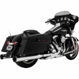 Vance & Hines 4in. Eliminator 400 Slip-On - Chrome with Black End Caps [Warehouse Deal]
