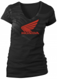 Honda Collection Womens Racing Abstract Wings Short Sleeve Tee