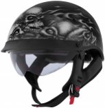 Cyber Helmets Lethal Threat U-72 Skull Pile Helmet with Internal Shield