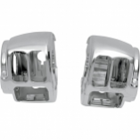 Drag Specialties Upper Left Switch Housing  for Chrome Handlebar Control Kits with Mechanical Clutching