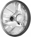 Adjure 5 3/4in Pie Cut Trillient Headlight with Black Dot