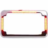 Cycle Visions Slick Signals License Plate Frame and Curve 3-Hole Mount