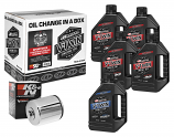 Maxima Sportster Synthetic Oil Filter Kit with Chrome Filter - 20W50