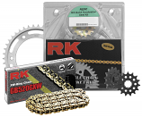 RK 520 Steel Quick Acceleration Chain/Sprocket Kits
