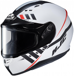HJC CS-R3 Space Snow Helmet with Dual Lens Shield