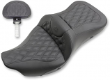 Saddlemen Extended Reach Heated Road Sofa LS Seat with Drivers Backrest