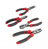 Performance Tools 4 Piece Pliers Set with Non-Slip Grips