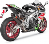 Akrapovic Aprilia 2017 RSV4/TUONO SO CF/CF Slip-On Line Muffler