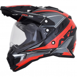 AFX FX-41DS Black/Red Eigar Helmet