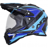 AFX FX-41DS Black/Blue/Light Blue Eigar Helmet