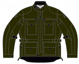 Olympia Moto Sports Troy Transition Jacket (Army / Lg) [Warehouse Deal]