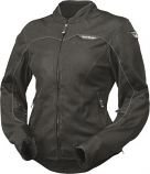 Fly Racing Flux Air Womens Jacket (Black / Lg) [Warehouse Deal]