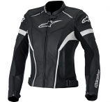 Alpinestars Stella GP Plus R Leather Womens Jacket (Black/White / 4) [Warehouse Deal]