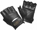 RoadKrome Chopper Deluxe Perforated Leather Fingerless Gloves