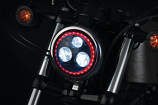 Kuryakyn Orbit Prism 5-3/4in. LED Headlight with Bluetooth Controlled Multi-Color Halo