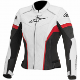 Alpinestars Stella GP Plus R Perforated Womens Leather Jacket (White/Black/Red / 6) [Warehouse Deal]