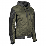 Speed & Strength Double Take Womens Leather-Textile Jacket (XL / Olive/Black) [Warehouse Deal]