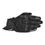 Alpinestars GPX Leather Gloves (Black / Md) [Warehouse Deal]