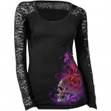 Lethal Threat Purple Haze Long Sleeve Womens Shirt