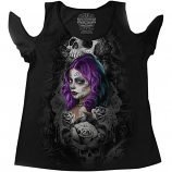 Lethal Threat Queen of Hearts Womens Shirt