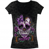 Lethal Threat D.O.D. Gun Womens T-Shirt