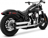 Vance & Hines Twin Slash 3in. Slip-Ons - Chrome [Warehouse Deal]