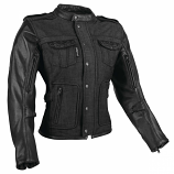 Speed & Strength Six Speed Sisters Womens Leather-Textile Jacket (Black / 2XL) [Warehouse Deal]